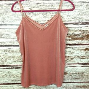 Old Navy blush pink velvety tank small